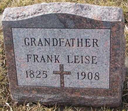 LEISE, FRANK - Cedar County, Nebraska   FRANK LEISE - Nebraska Gravestone Photos