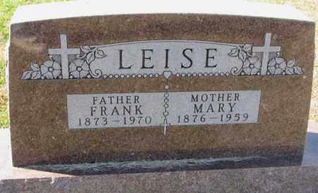 LEISE, MARY - Cedar County, Nebraska | MARY LEISE - Nebraska Gravestone Photos