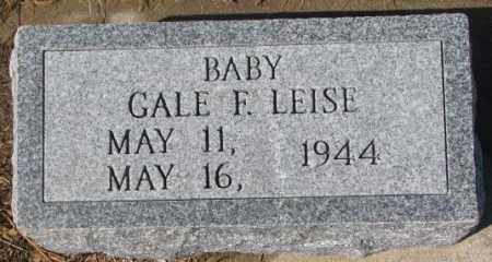 LEISE, GALE F. - Cedar County, Nebraska | GALE F. LEISE - Nebraska Gravestone Photos