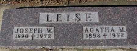 LEISE, JOSEPH W. - Cedar County, Nebraska | JOSEPH W. LEISE - Nebraska Gravestone Photos
