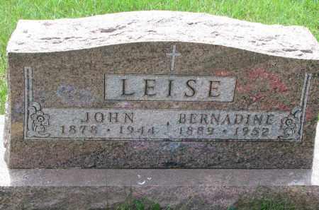 LEISE, JOHN - Cedar County, Nebraska   JOHN LEISE - Nebraska Gravestone Photos