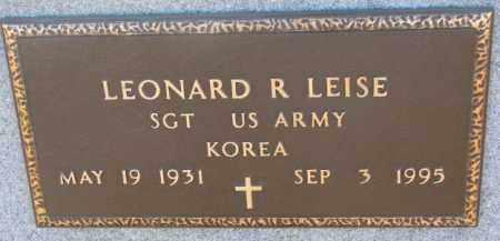 LEISE, LEONARD R. (KOREA) - Cedar County, Nebraska | LEONARD R. (KOREA) LEISE - Nebraska Gravestone Photos