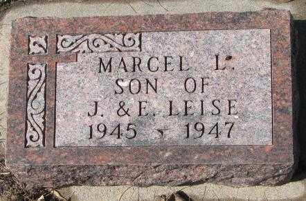 LEISE, MARCEL L. - Cedar County, Nebraska | MARCEL L. LEISE - Nebraska Gravestone Photos