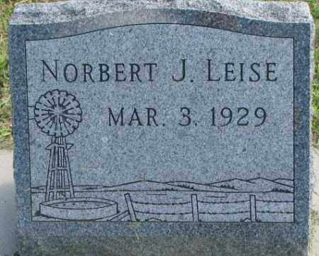 LEISE, NORBERT J. - Cedar County, Nebraska | NORBERT J. LEISE - Nebraska Gravestone Photos