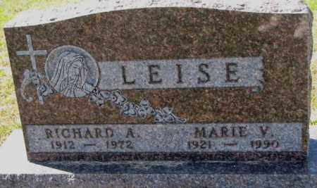 LEISE, RICHARD A. - Cedar County, Nebraska | RICHARD A. LEISE - Nebraska Gravestone Photos