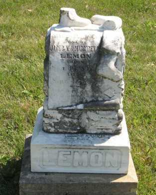 LEMON, GRACE ELIZABETH - Cedar County, Nebraska | GRACE ELIZABETH LEMON - Nebraska Gravestone Photos