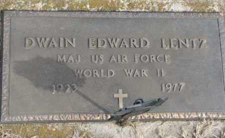 LENTZ, DWAIN EDWARD - Cedar County, Nebraska | DWAIN EDWARD LENTZ - Nebraska Gravestone Photos