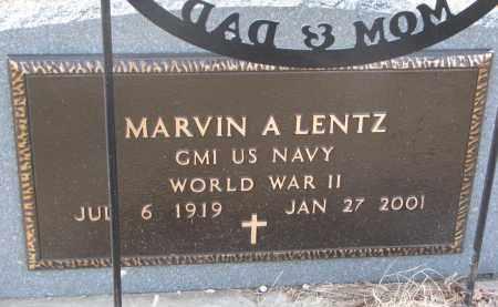 LENTZ, MARVIN A. (WW II) - Cedar County, Nebraska | MARVIN A. (WW II) LENTZ - Nebraska Gravestone Photos