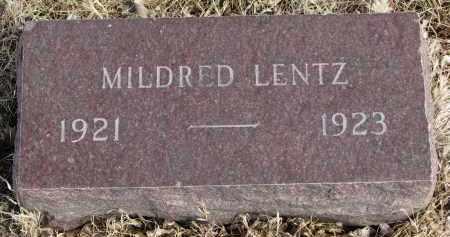 LENTZ, MILDRED - Cedar County, Nebraska | MILDRED LENTZ - Nebraska Gravestone Photos