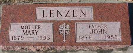 LENZEN, MARY - Cedar County, Nebraska | MARY LENZEN - Nebraska Gravestone Photos