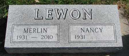 LEWON, MERLIN - Cedar County, Nebraska | MERLIN LEWON - Nebraska Gravestone Photos