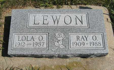 LEWON, RAY O. - Cedar County, Nebraska | RAY O. LEWON - Nebraska Gravestone Photos