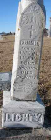 LICHTY, PHIL H. - Cedar County, Nebraska | PHIL H. LICHTY - Nebraska Gravestone Photos