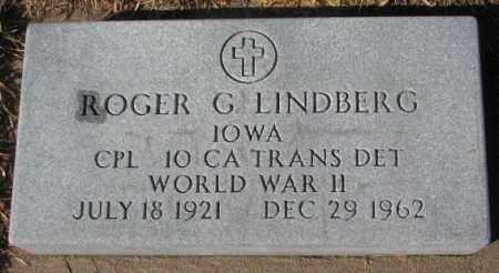 LINDBERG, ROGER G. - Cedar County, Nebraska | ROGER G. LINDBERG - Nebraska Gravestone Photos