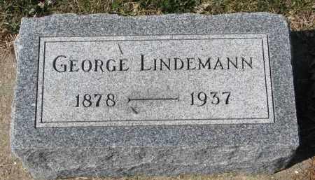 LINDEMANN, GEORGE - Cedar County, Nebraska | GEORGE LINDEMANN - Nebraska Gravestone Photos