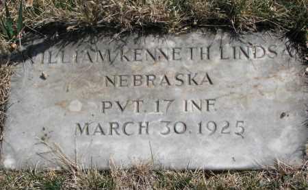 LINDSAY, WILLIAM KENNETH - Cedar County, Nebraska | WILLIAM KENNETH LINDSAY - Nebraska Gravestone Photos