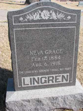 LINGREN, NEVA GRACE - Cedar County, Nebraska | NEVA GRACE LINGREN - Nebraska Gravestone Photos