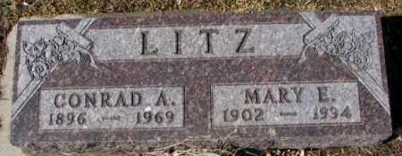 LITZ, MARY E. - Cedar County, Nebraska | MARY E. LITZ - Nebraska Gravestone Photos