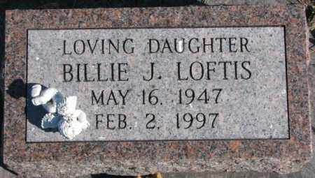 LOFTIS, BILLIE J. - Cedar County, Nebraska | BILLIE J. LOFTIS - Nebraska Gravestone Photos