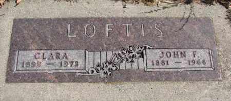 LOFTIS, JOHN F. - Cedar County, Nebraska | JOHN F. LOFTIS - Nebraska Gravestone Photos