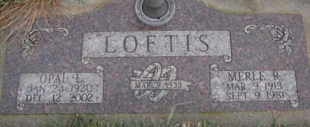 LOFTIS, OPAL L. - Cedar County, Nebraska   OPAL L. LOFTIS - Nebraska Gravestone Photos