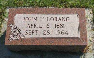 LORANG, JOHN H. - Cedar County, Nebraska | JOHN H. LORANG - Nebraska Gravestone Photos