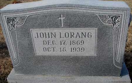 LORANG, JOHN - Cedar County, Nebraska   JOHN LORANG - Nebraska Gravestone Photos