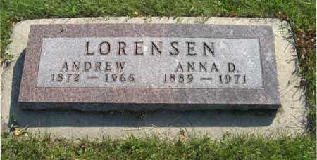 LORENSEN, ANDREW - Cedar County, Nebraska | ANDREW LORENSEN - Nebraska Gravestone Photos