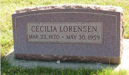 LORENSEN, CECILIA - Cedar County, Nebraska   CECILIA LORENSEN - Nebraska Gravestone Photos