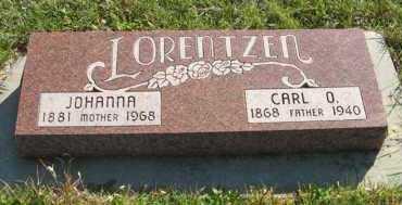 LORENTZEN, JOHANNA - Cedar County, Nebraska   JOHANNA LORENTZEN - Nebraska Gravestone Photos