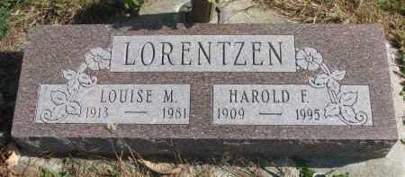 LORENTZEN, HAROLD F. - Cedar County, Nebraska | HAROLD F. LORENTZEN - Nebraska Gravestone Photos