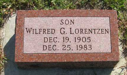 LORENTZEN, WILFRED G. - Cedar County, Nebraska | WILFRED G. LORENTZEN - Nebraska Gravestone Photos