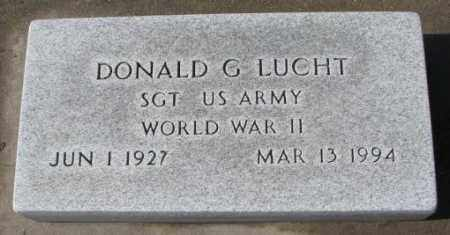 LUCHT, DONALD G. (WW II) - Cedar County, Nebraska | DONALD G. (WW II) LUCHT - Nebraska Gravestone Photos