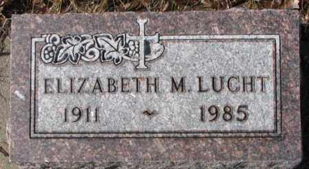 LUCHT, ELIZABETH M. - Cedar County, Nebraska | ELIZABETH M. LUCHT - Nebraska Gravestone Photos