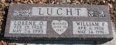 LUCHT, WILLIAM F. - Cedar County, Nebraska   WILLIAM F. LUCHT - Nebraska Gravestone Photos