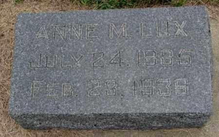LUX, ANNE M. - Cedar County, Nebraska | ANNE M. LUX - Nebraska Gravestone Photos