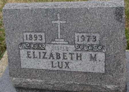 LUX, ELIZABETH M. - Cedar County, Nebraska   ELIZABETH M. LUX - Nebraska Gravestone Photos
