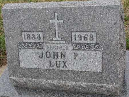 LUX, JOHN P. - Cedar County, Nebraska | JOHN P. LUX - Nebraska Gravestone Photos