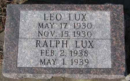 LUX, LEO - Cedar County, Nebraska | LEO LUX - Nebraska Gravestone Photos