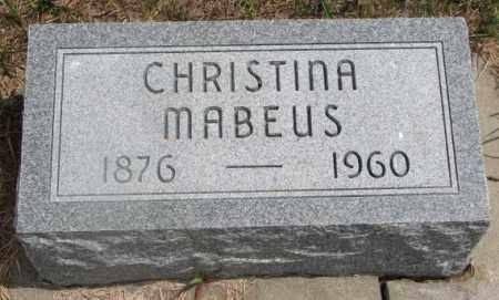 MABEUS, CHRISTINA - Cedar County, Nebraska | CHRISTINA MABEUS - Nebraska Gravestone Photos