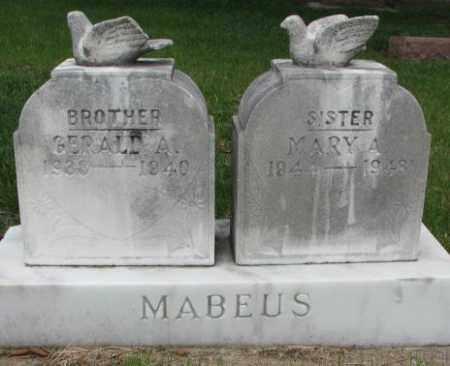 MABEUS, MARY A. - Cedar County, Nebraska | MARY A. MABEUS - Nebraska Gravestone Photos