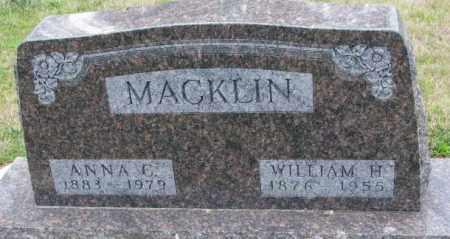 MACKLIN, ANNA C. - Cedar County, Nebraska | ANNA C. MACKLIN - Nebraska Gravestone Photos