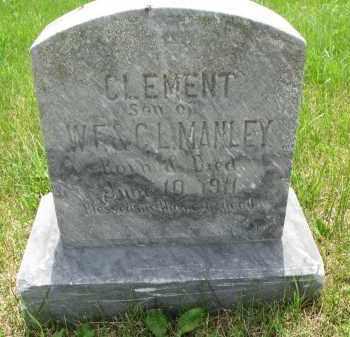 MANLEY, CLEMENT - Cedar County, Nebraska | CLEMENT MANLEY - Nebraska Gravestone Photos