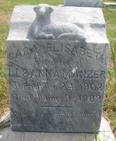 MANZER, CARA ELISABETH - Cedar County, Nebraska | CARA ELISABETH MANZER - Nebraska Gravestone Photos