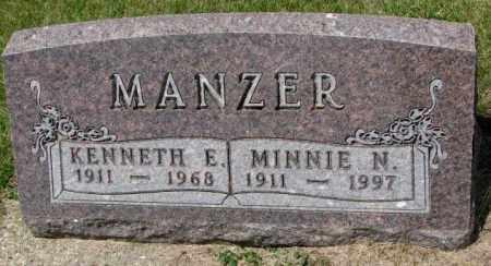 MANZER, KENNETH E. - Cedar County, Nebraska   KENNETH E. MANZER - Nebraska Gravestone Photos