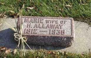 ALLAWAY, MARIE - Cedar County, Nebraska | MARIE ALLAWAY - Nebraska Gravestone Photos