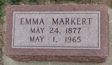 MARKERT, EMMA - Cedar County, Nebraska   EMMA MARKERT - Nebraska Gravestone Photos