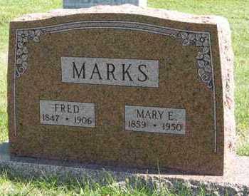 MARKS, MARY E. - Cedar County, Nebraska | MARY E. MARKS - Nebraska Gravestone Photos