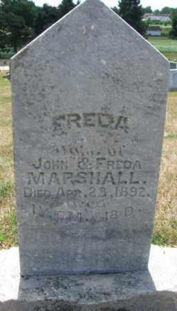 MARSHALL, FREDA - Cedar County, Nebraska | FREDA MARSHALL - Nebraska Gravestone Photos