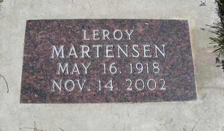 MARTENSEN, LEROY - Cedar County, Nebraska   LEROY MARTENSEN - Nebraska Gravestone Photos